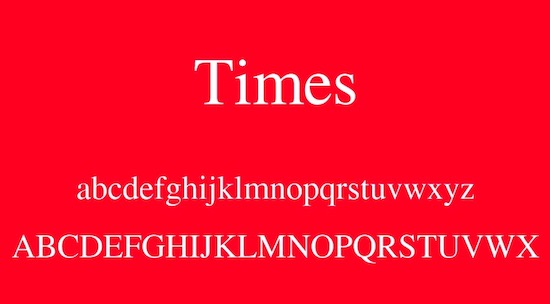 Times font free download