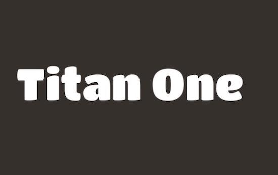 Titan One font