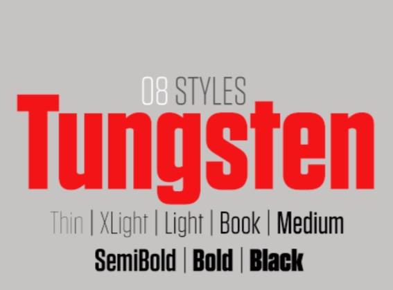 Tungsten font thumb