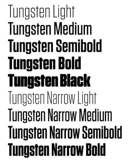 Tungsten font