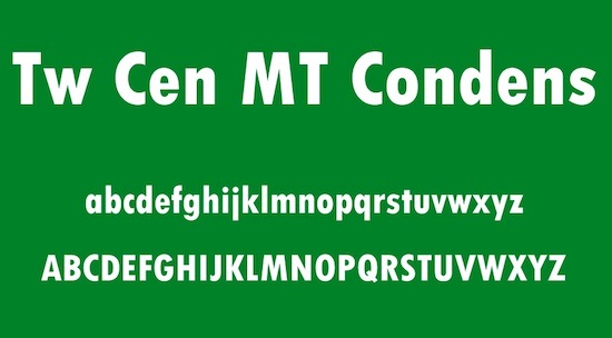 Tw Cen MT Condensed Extra Bold font free download