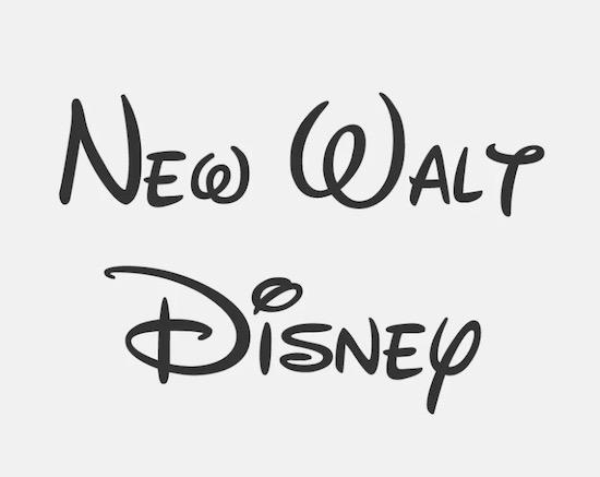 New Walt Disney font