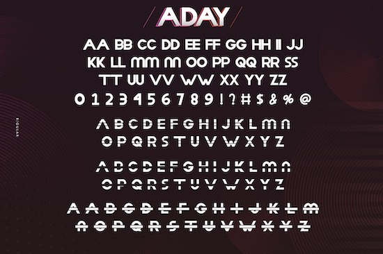 Aday font free
