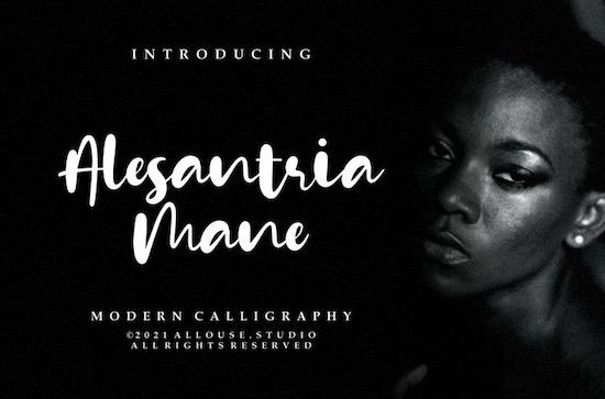 Alesantria Mane font download free