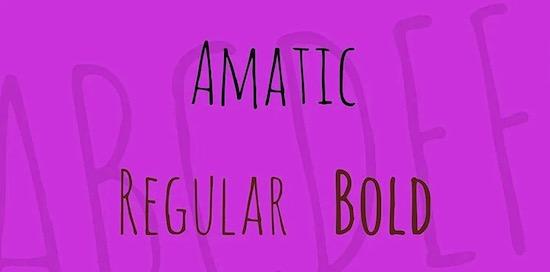 Amatic font download