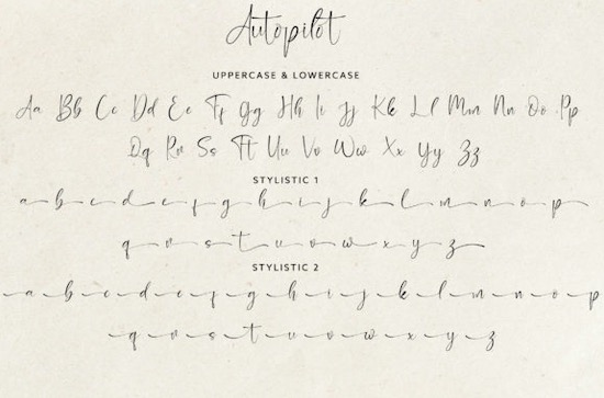 Autopilot font free