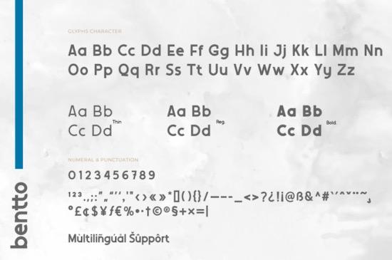 Bentto font download