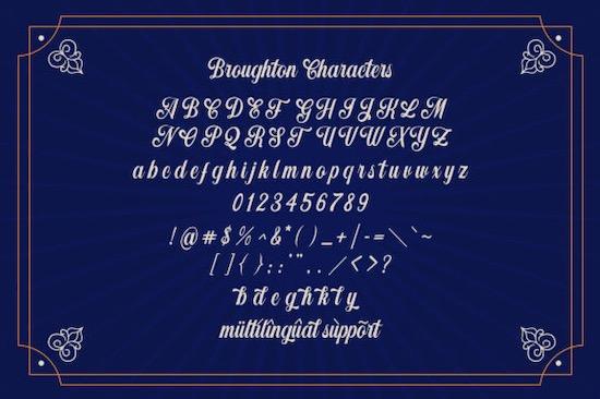 Broughton font download