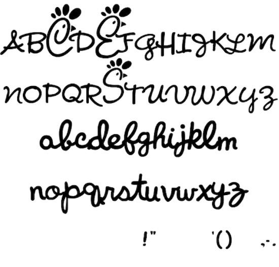 Chick Fil A font