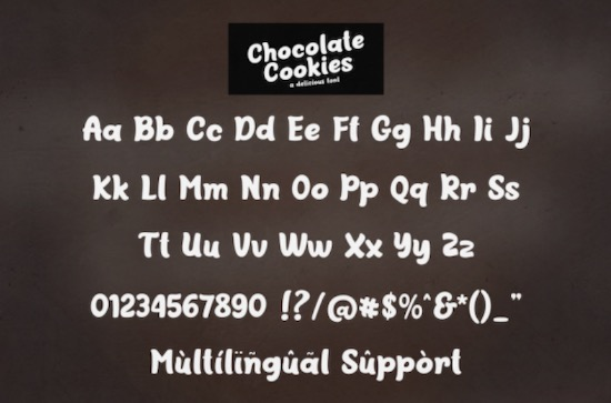 Chocolate Cookies font free
