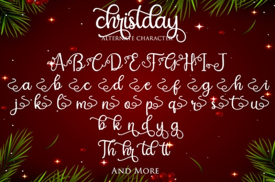 Christday font free download