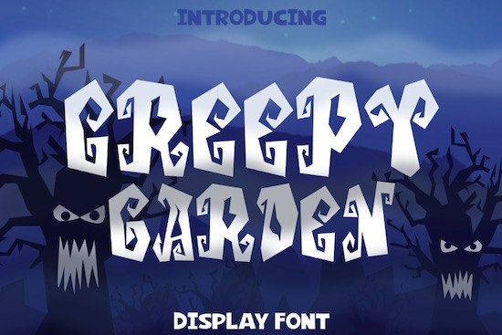 Creepy Garden font free download