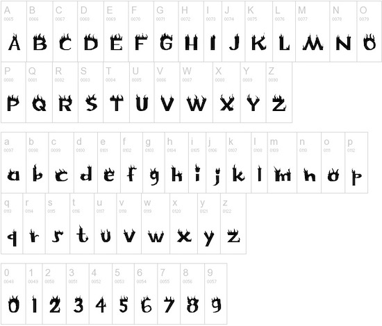 Flame font free