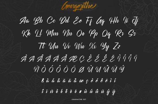 Georgerithe font download