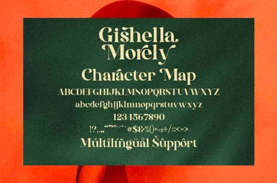 Gishella Morely font free
