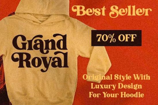 Grand Royal font free download