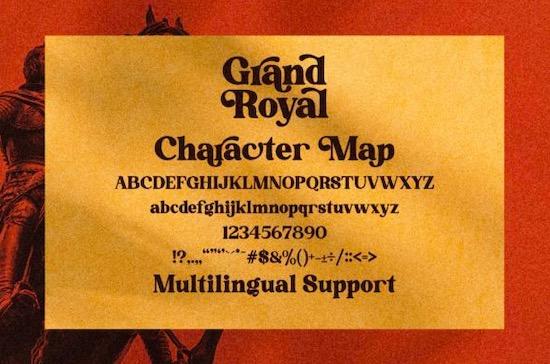 Grand Royal font free