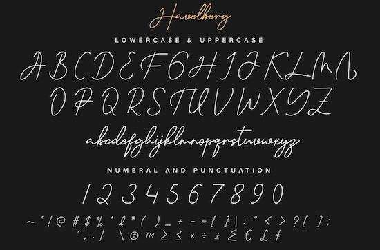 Havelberg font free