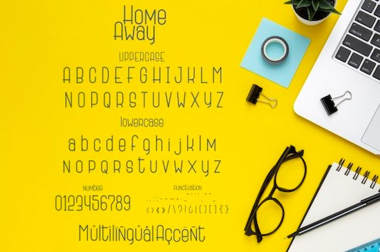 Home Away font download