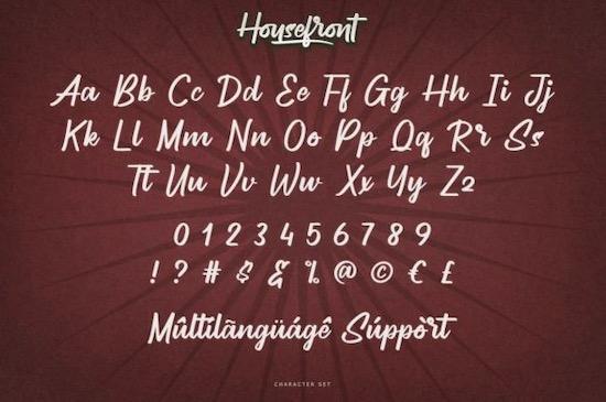 Housefront font download