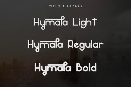 Hymala font free download