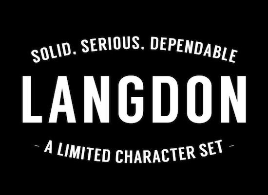 Langdon font download