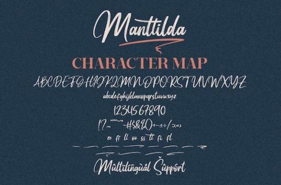 Manttilda font free