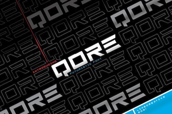 Qore font free download