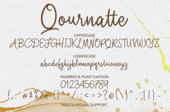 Qournatte font free download