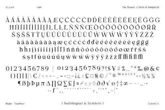 Regis font download