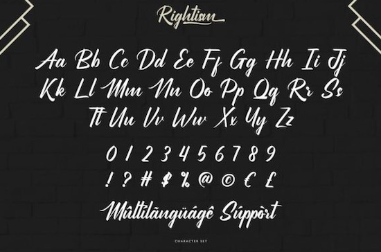 Rightism font free