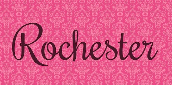 Rochester font download
