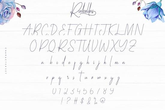 Rubellas font download