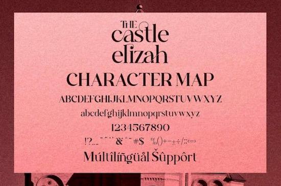 The Castle Elizah font free