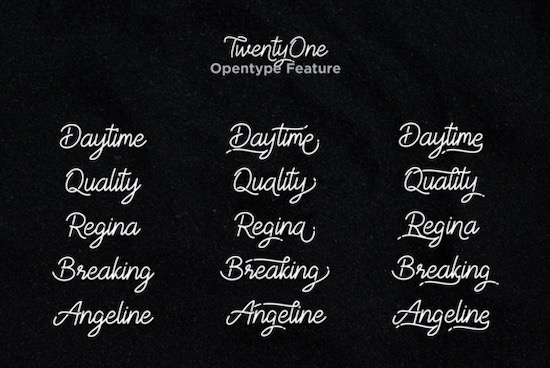 TwentyOne font download