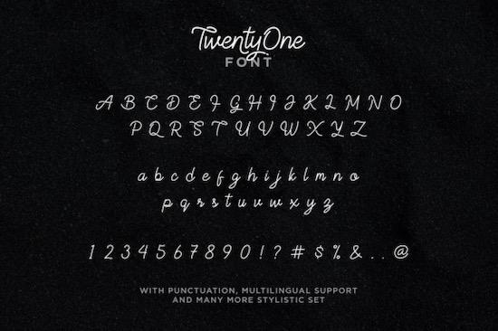 TwentyOne font free