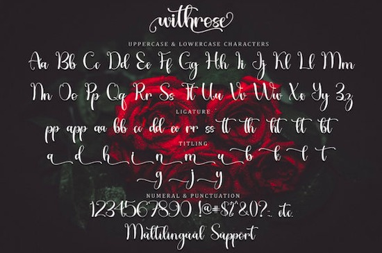Withrose font free