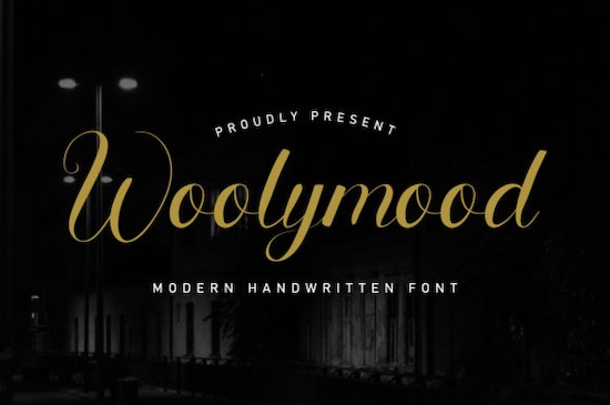 Woolymood font free
