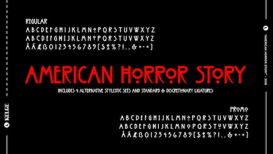 American Horror Story font