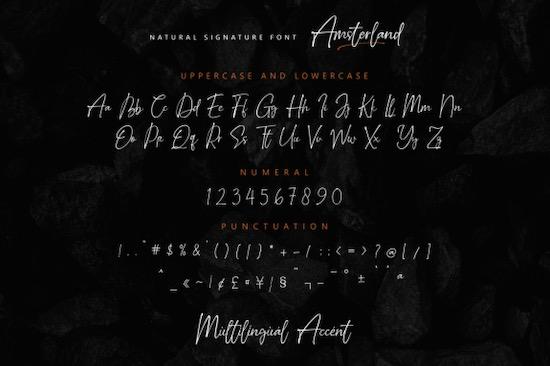 Amsterland font free