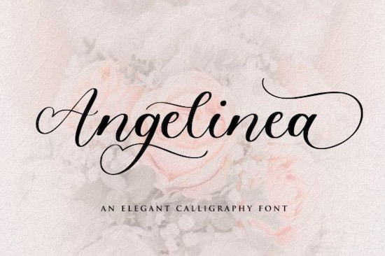 Angelinea font free download