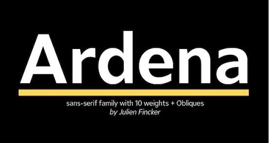 Ardena font