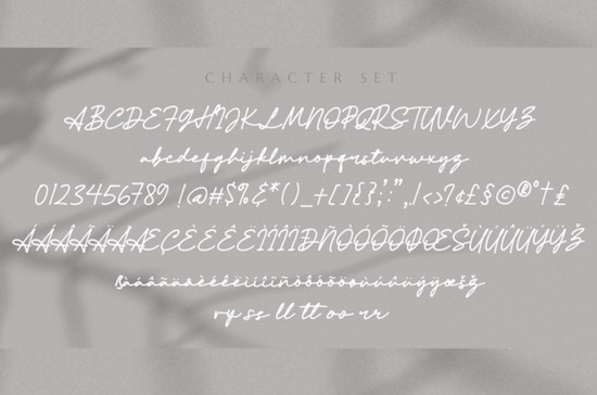 Athena Signature font free