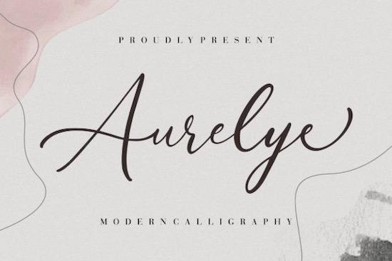 Aurelye font free download