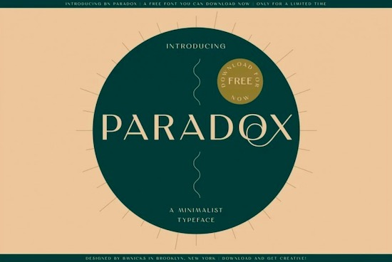 BN Paradox font