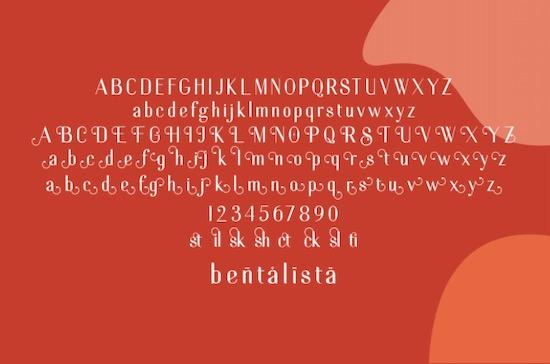 Bentalista font free download