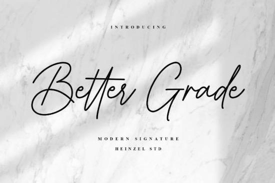 Better Grade font free download