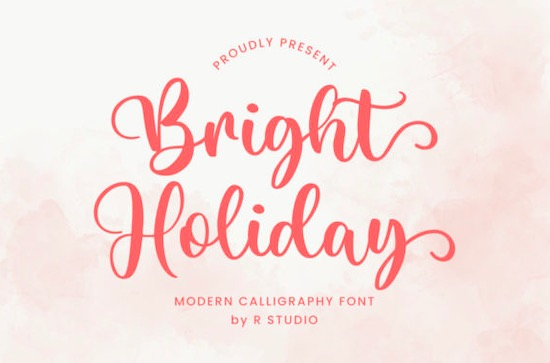 Bright Holiday Font free download