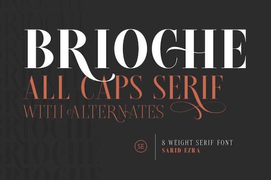 Brioche font free download