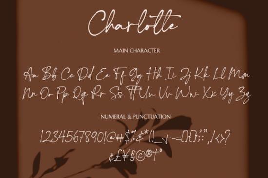 Charlotte font download